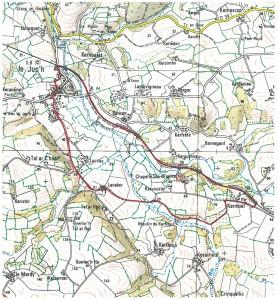 Carte des circuits de randonnée du Juch