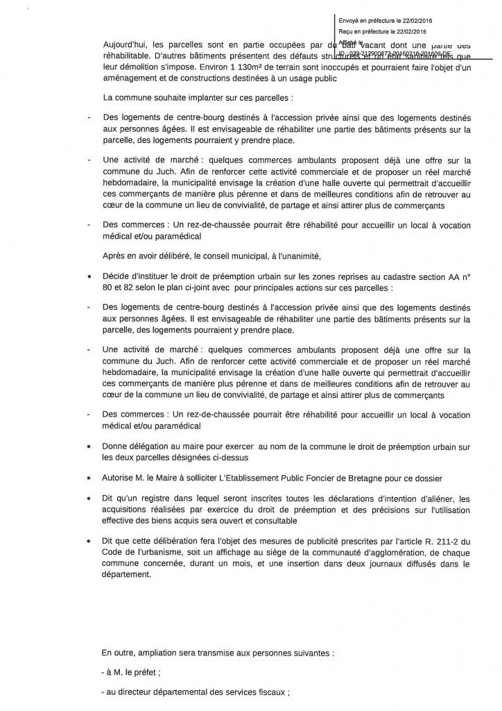 Institution d 39 un droit de preemption urbain au bourg - Le droit de preemption ...