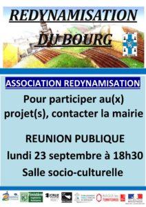 «Redynamisation du centre bourg» – Constitution d'une association